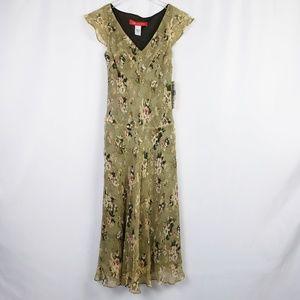 Anne Klein Silk V-Neck Dress, Size 4